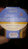 Verment creamery, european style sea salt crystals cultured butter - Product
