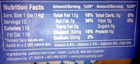 Cultured butter, European style - Nutrition facts