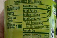 Green tea - Voedingswaarden - en