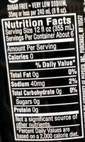 Pepsi Max - Nutrition facts