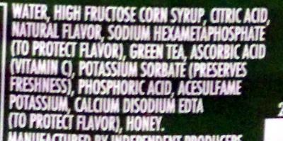 Citrus Green Tea - Ingredients