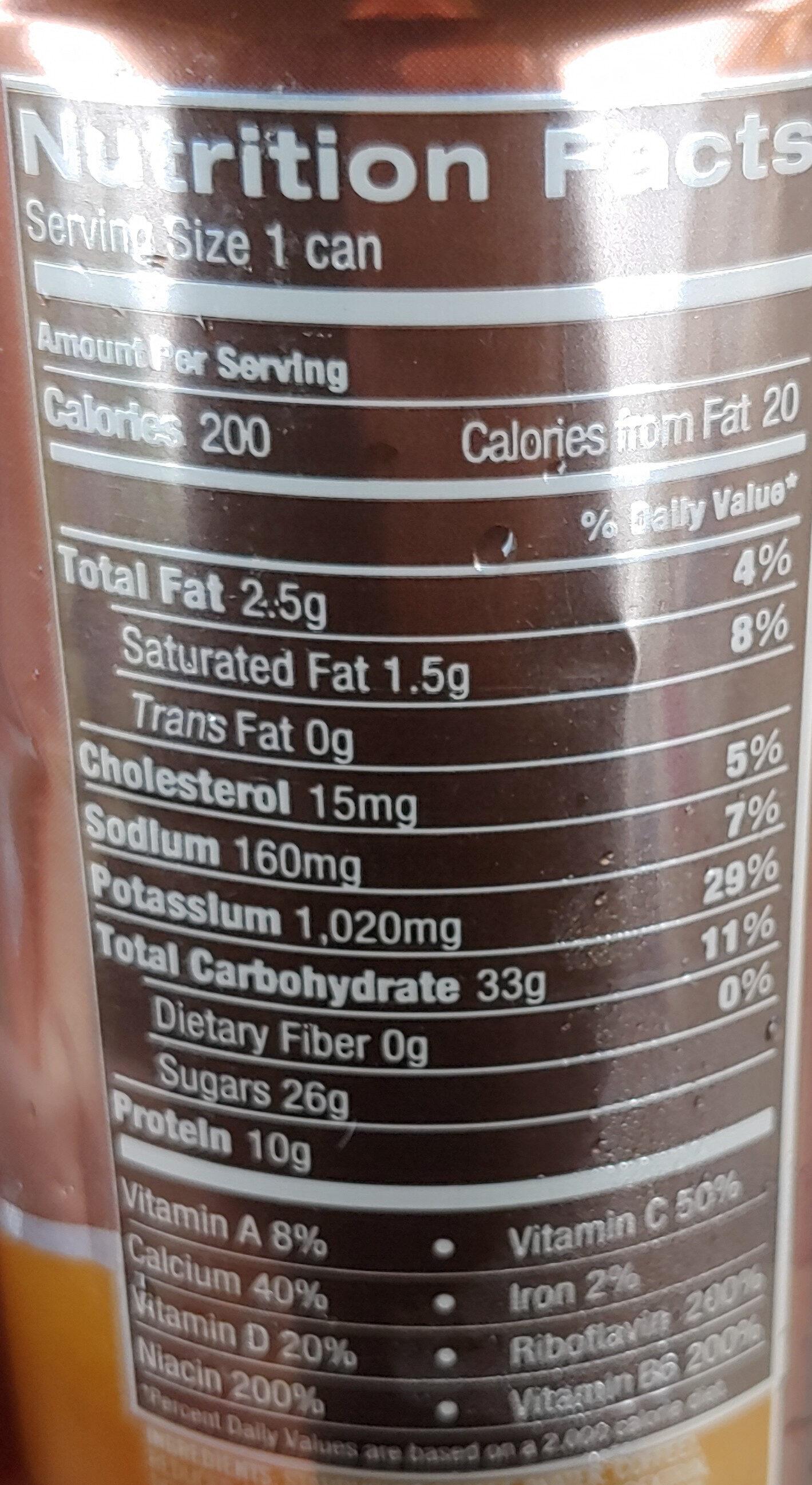 Doubleshot energy - Informazioni nutrizionali - en