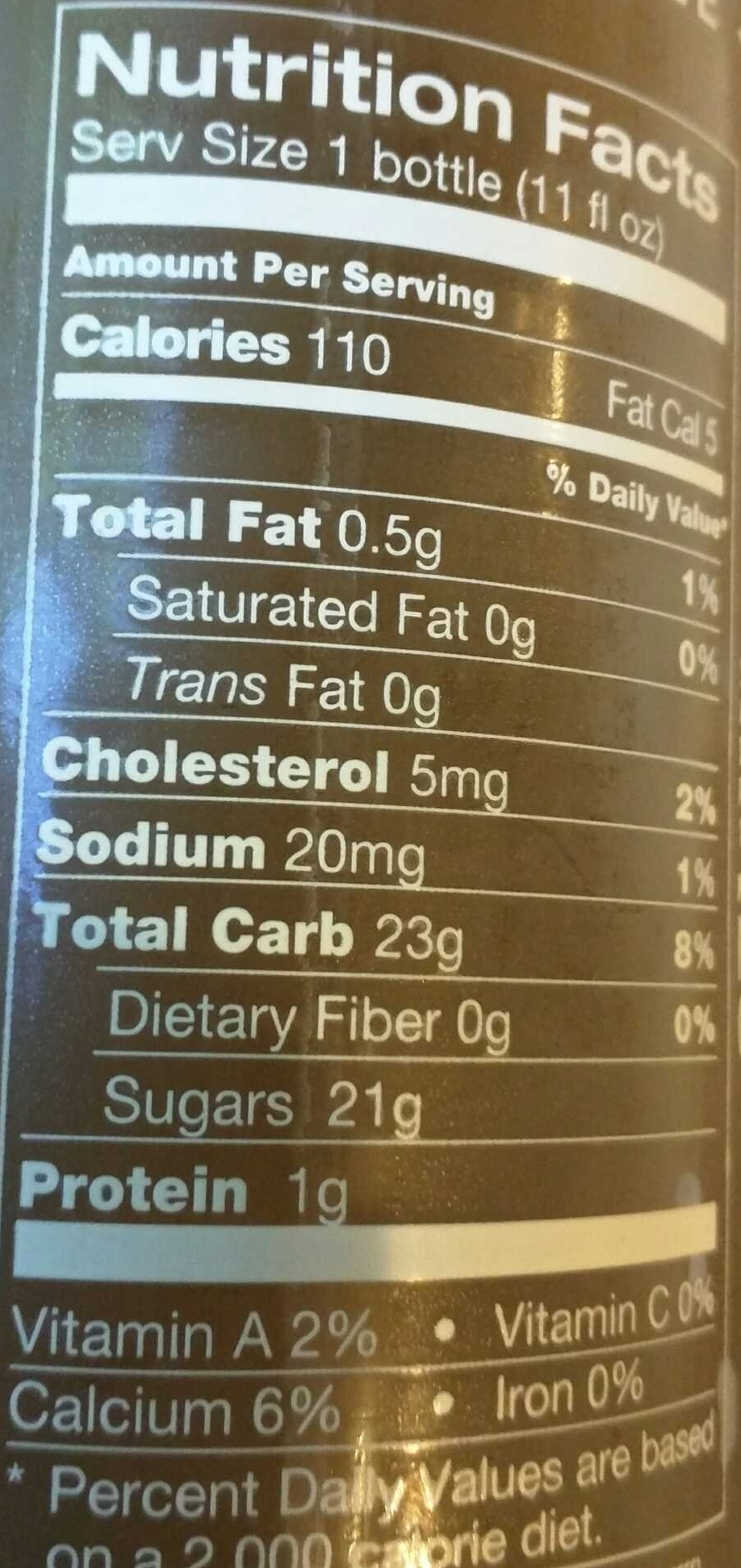 Iced Coffee - Nutrition facts - en