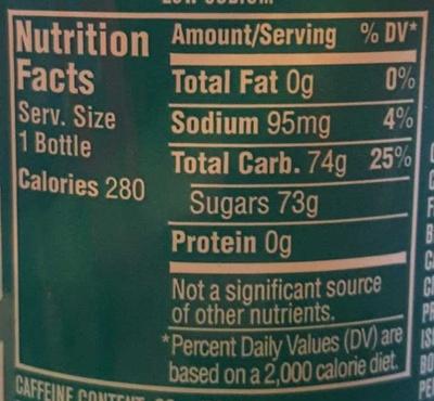 Baja Blast - Nutrition facts - en