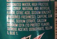 Mtn Dew - Ingredients