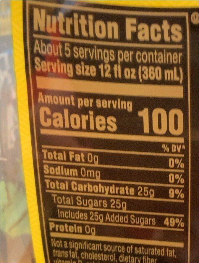 Leaf real brewed tea - Nutrition facts - en