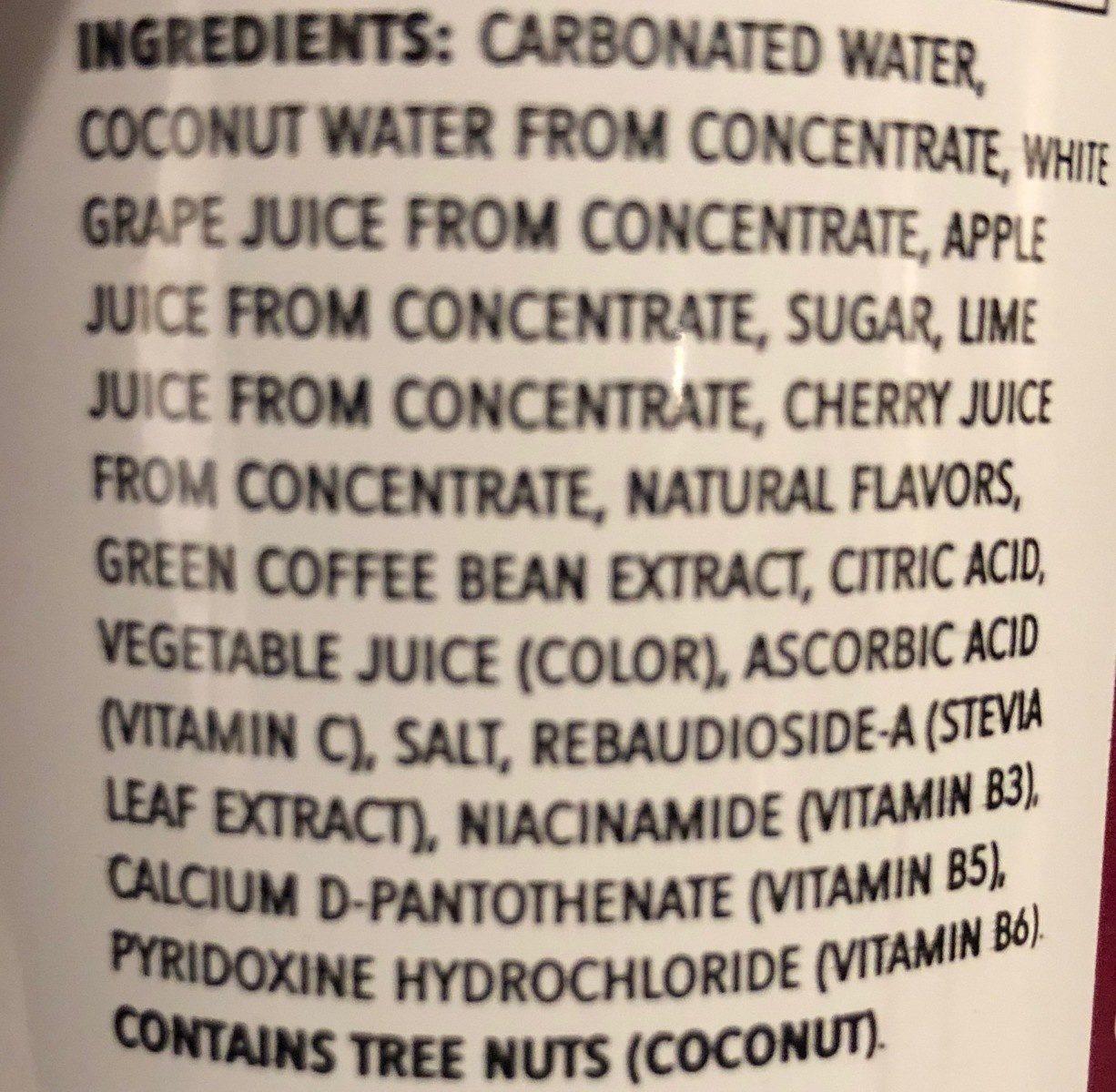 Refreshers Black Cherry Limeade - Ingrediënten