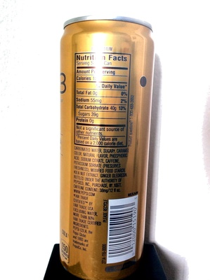 1893 Ginger Cola - Nutrition facts