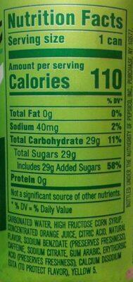 Mini cans - Nutrition facts - en