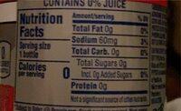 Wild cherry soda - Nutrition facts - en