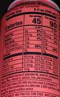 Mtn Dew Game Fuel Amp: Charged Cherry Burst - Nutrition facts
