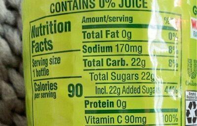 Green Tea Watermelon - Nutrition facts - en