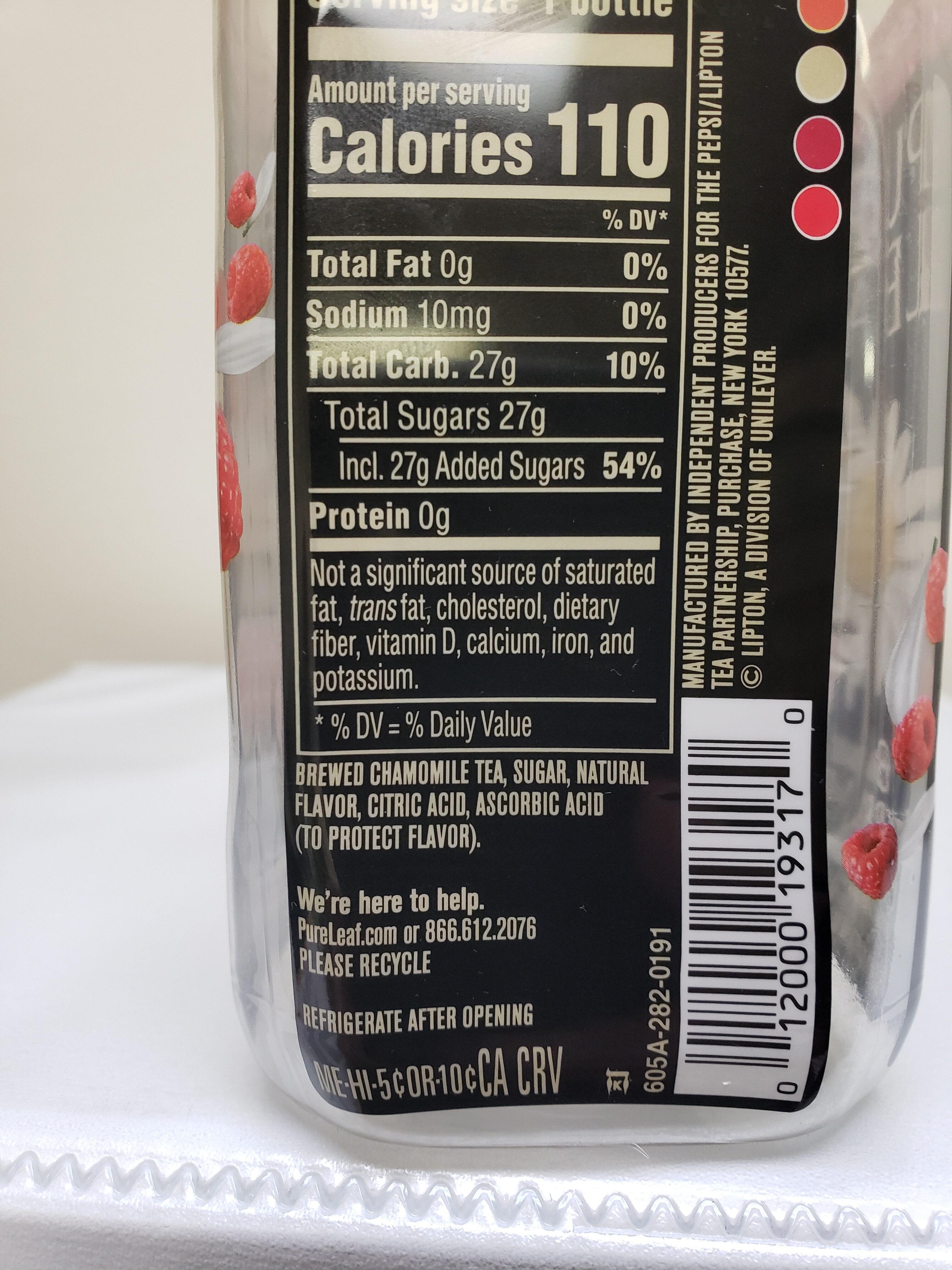 Raspberry Chamomile - Ingredients - en