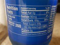 Pepsi Blue - Nutrition facts - en