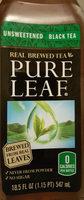 Pure Leaf Unsweetened No Lemon Iced Tea 18.5 Fluid Ounce Plastic Bottle - Product - en