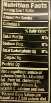 Pure Leaf Unsweetened No Lemon Iced Tea 18.5 Fluid Ounce Plastic Bottle - Nutrition facts - en