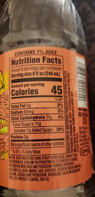 Pink Lemonade Juice Drink - Ingredients - en