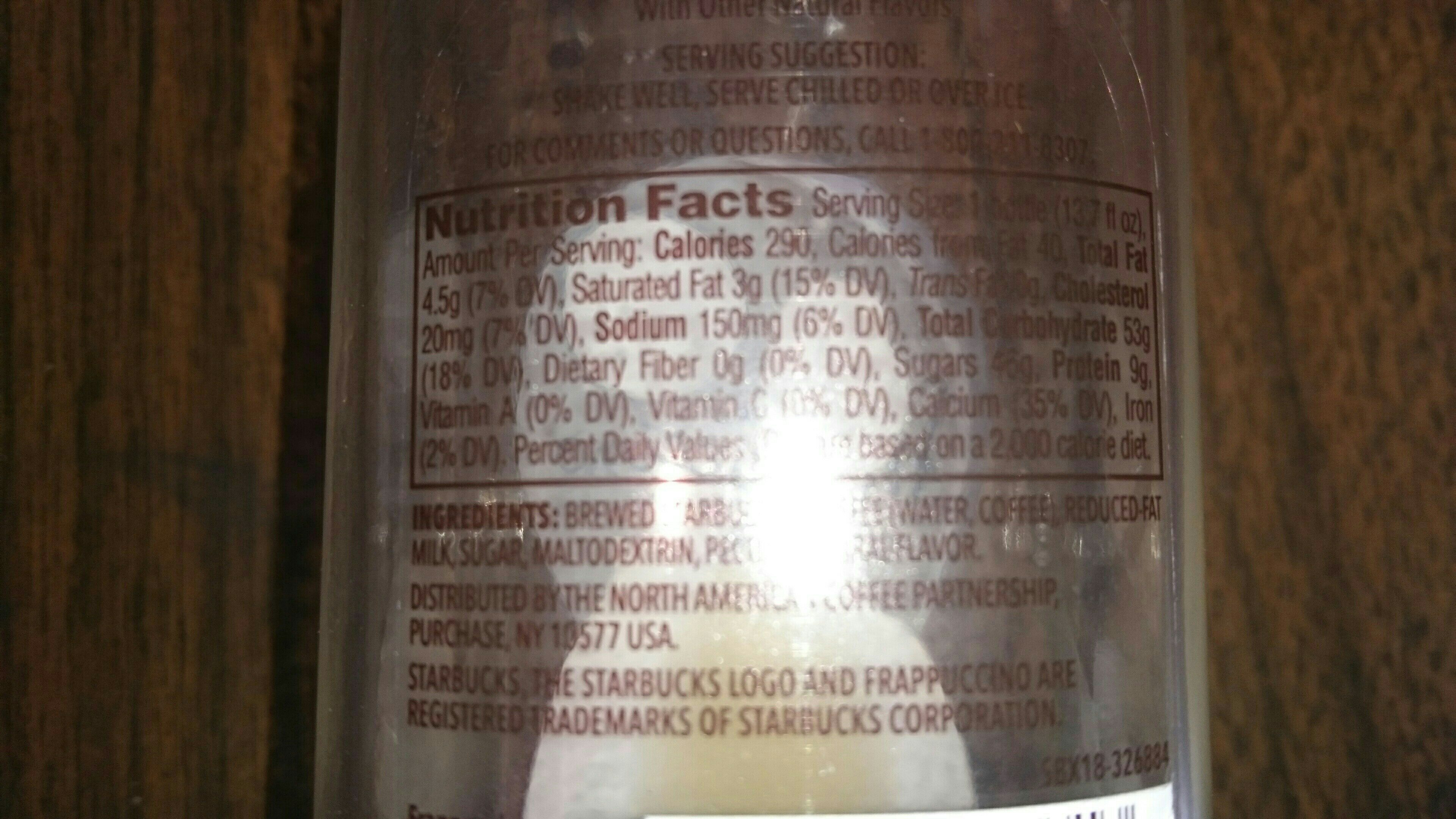 Chilled Coffee Drink - Nutrition facts - en