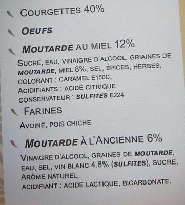Bouchée Apéritive - Ingrédients