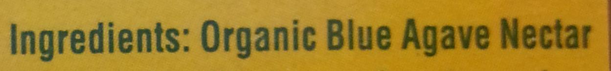 Organic Blue Agave - Ingredients