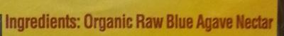 Organic Raw Blue Agave - Ingrediënten