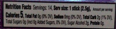 Layers grape lemonade sugar free gum - Nutrition facts - en
