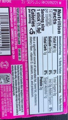 Trident Bubblegum Single - Informations nutritionnelles - fr