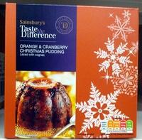 Orange & Cranberry Pudding - Product - en