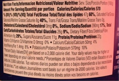 Crown Peanut Butter Chunky - Nutrition facts - fr