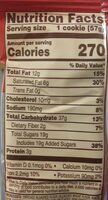 Chocolate chip cookie - Nutrition facts - en