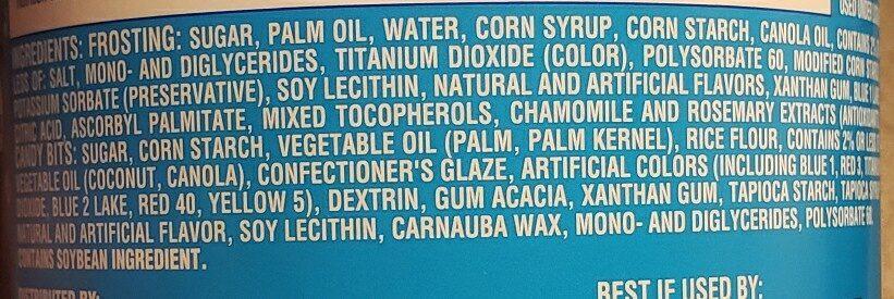 Pillsbury Funfetti Vanilla Frosting - Ingredienti - en