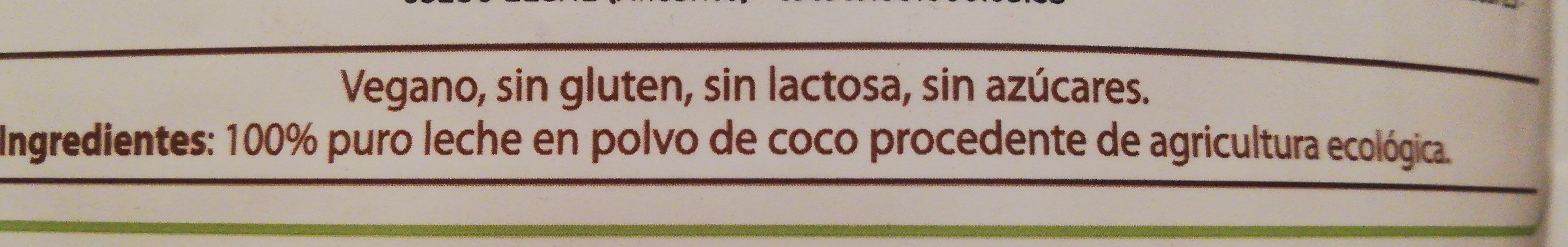 Leche de coco polvo liofilizada - Ingredients