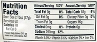 Barbecue Sauce - Nutrition facts