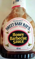 Sweet baby ray's, honey barbecue sauce - Product - en