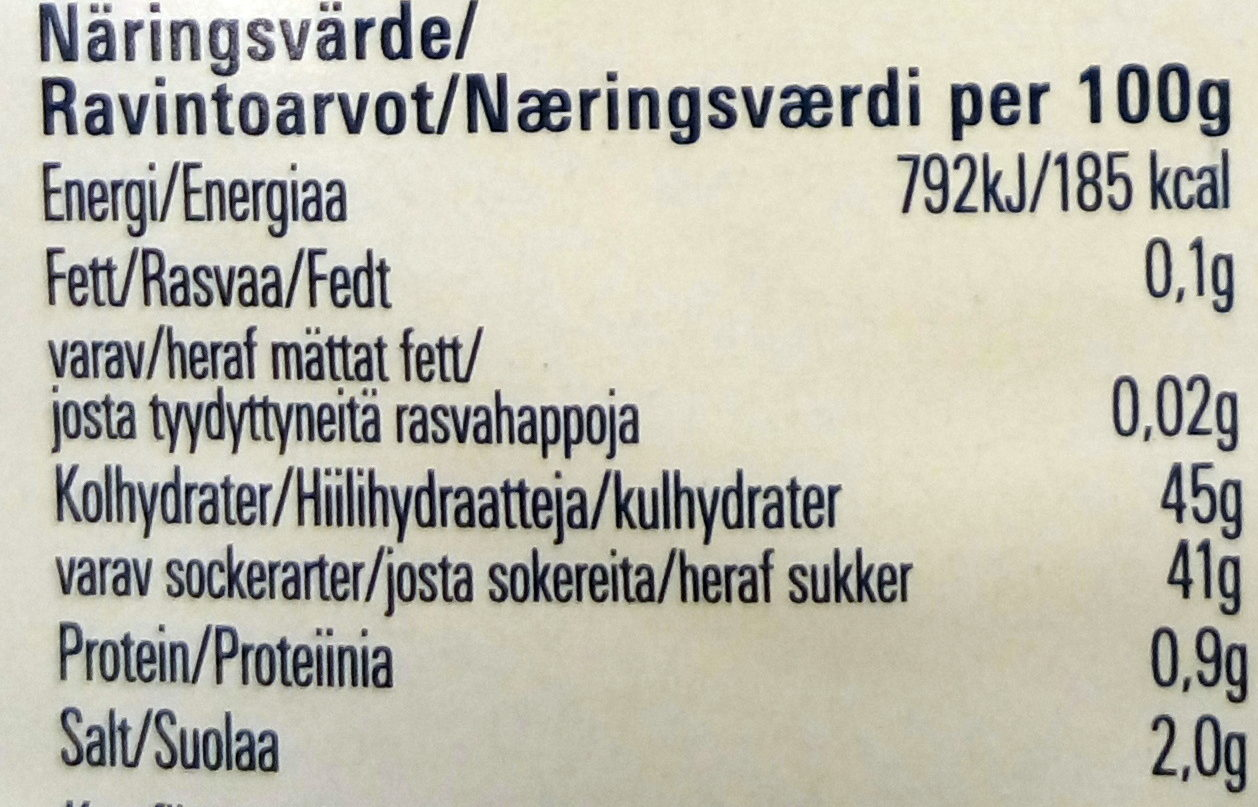 Sweet 'n Spicy Barbecue Sås - Nutrition facts