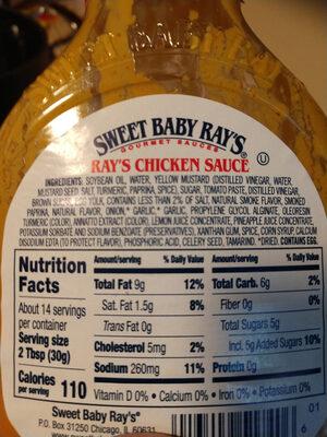 Rays chicken sauce - Ingredients - en