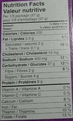 Annie's Shells & White Cheddar Macaroni and Cheese - Informations nutritionnelles - en