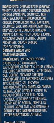 Macaroni au fromage - Ingrediënten