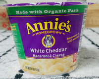 Annie's Real White Cheddar Macaroni and Cheese Micro Cup 4 Pk - Produit - en