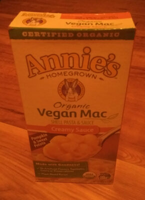 Annie's Homegrown Organic Vegan Shell Pasta and Creamy Sauce - Product - en