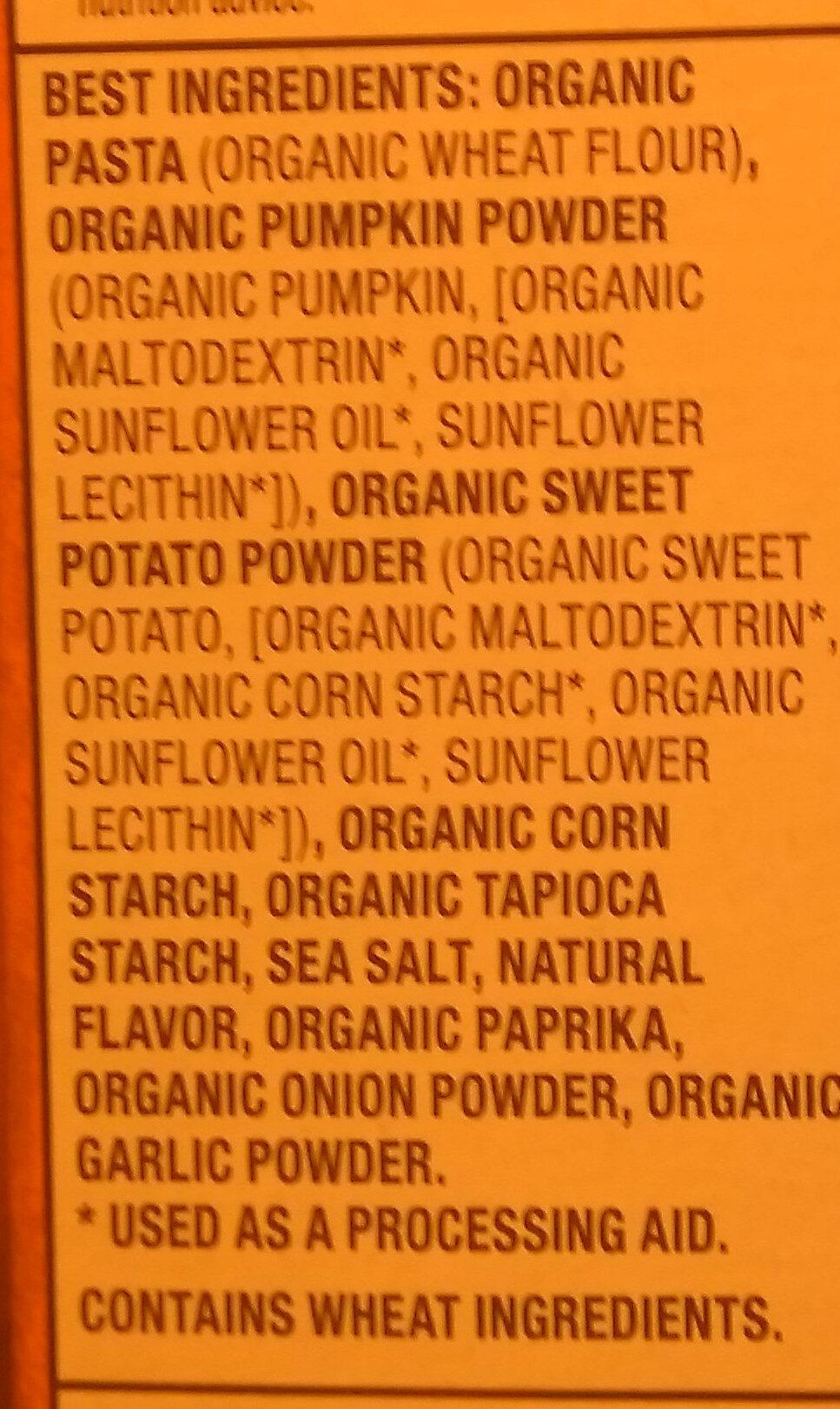 Organic Vegan Mac - Creamy Sauce - Ingredients