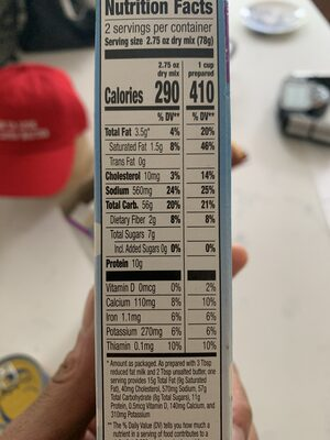 Annie's Mac and Trees Macaroni and Cheese, Made with Organic Pasta - Nutrition facts - en
