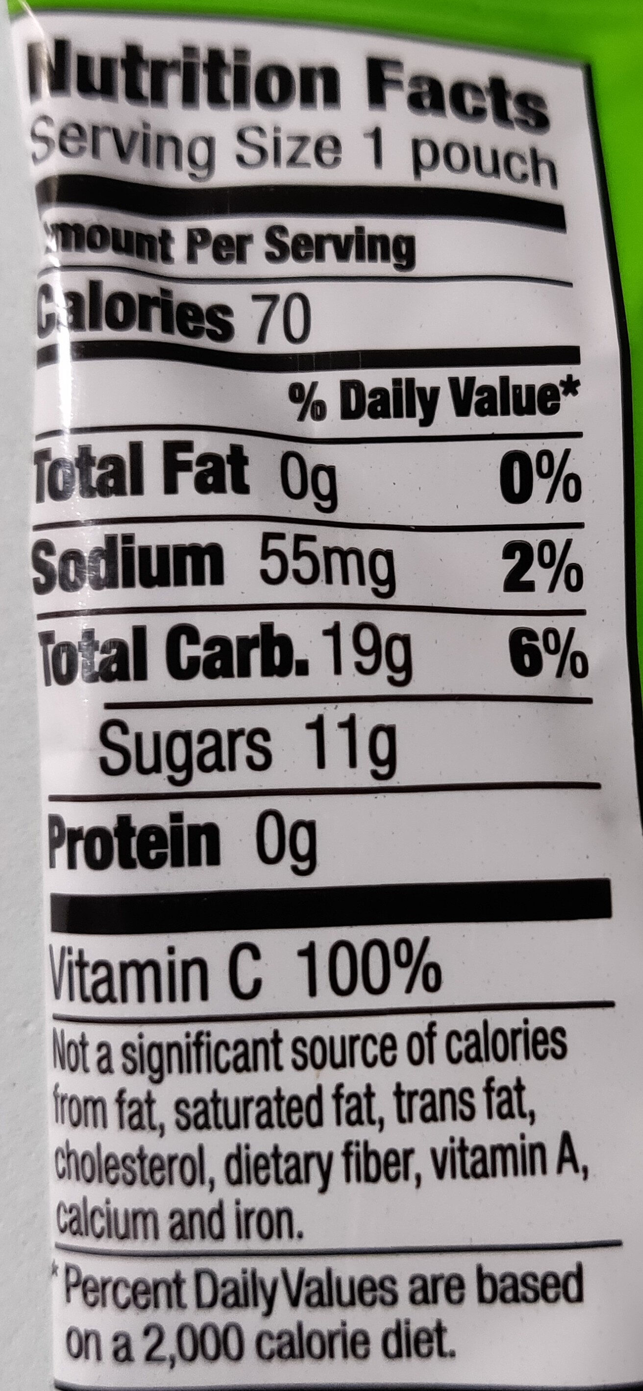 Bunny Fruit Snacks Tropical Treat - Nutrition facts