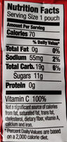 Bunny Fruit Snacks Summer Strawberry - Nutrition facts