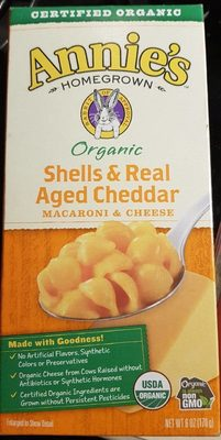 Shells and real aged cheddar macaroni & cheese - Product