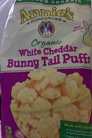 Annie's Organic White Cheddar Bunny Tail Puffs - Product - en