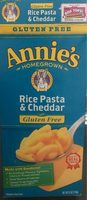 Rice pasta & cheddar - Product