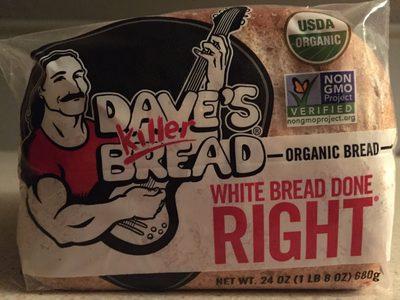 Dave's killer bread, organic white bread - Product - en
