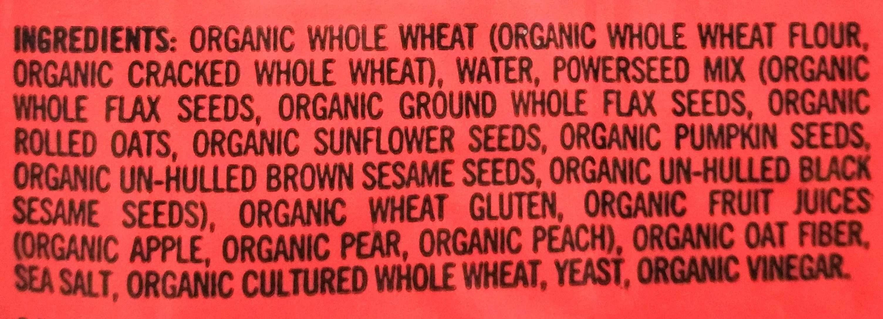 Powerseed (Organic Bread) - Ingredients - en