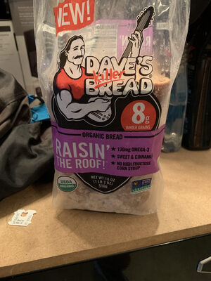 Organic bread, raisin' the roof! - Product - en